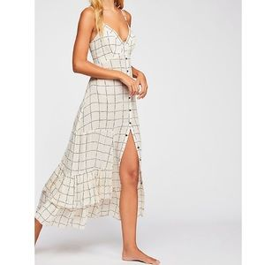 Free People Check Me Out Maxi Slip Dress